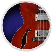 Ibanez Af75 Hollowbody Electric Guitar Front View Round Beach Towel