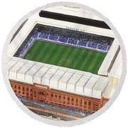 Ibrox Stadium Round Beach Towel