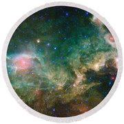 Ic 2177-seagull Nebula Round Beach Towel