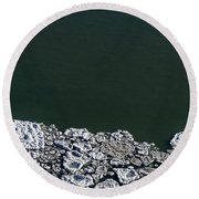 Ice Abstract 10 Round Beach Towel