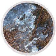 Ice Abstract Round Beach Towel