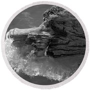 Ice Among The Floating Tree Round Beach Towel