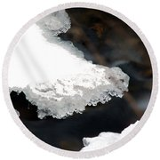 Ice And Water Round Beach Towel