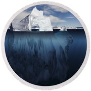 Ice Arch Iceberg Round Beach Towel