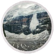 1m3545-01-ice Avalanche On Mt. Victoria Round Beach Towel