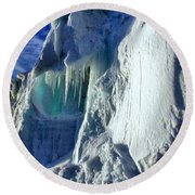 Ice Berg Up Close And Personal Round Beach Towel