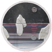 Ice Bergs Round Beach Towel