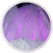 Ice Cliff Round Beach Towel