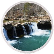 Ice Cold Beauty Round Beach Towel