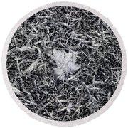1m9343-ice Crystals On Black Ice, Tetons Round Beach Towel