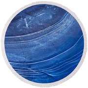 Ice Curve In Blue Round Beach Towel
