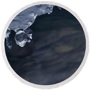 Ice Drop Round Beach Towel