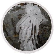 Ice Flow 7 Round Beach Towel
