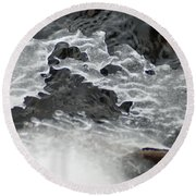 Ice Formations Viii Round Beach Towel
