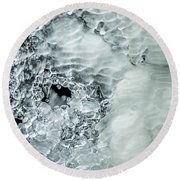 Ice Formations X Round Beach Towel