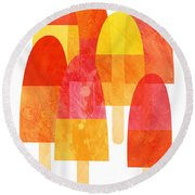Ice Lollies Round Beach Towel by Nic Squirrell