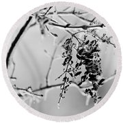 Ice Melting Round Beach Towel