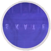 Ice Rink At Somerset House Round Beach Towel
