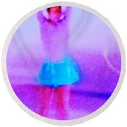 Ice Skater Abstract Round Beach Towel