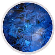 Ice Slace Round Beach Towel