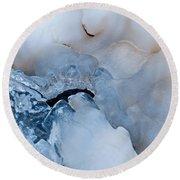 Ice Transformation V Round Beach Towel