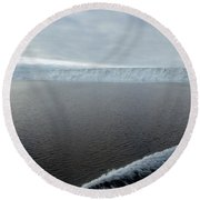 Iceberg And Polinya In The Ross Sea Round Beach Towel