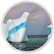 Iceberg Off The Coast Of Newfoundland Round Beach Towel