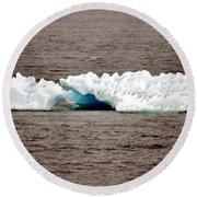 Iceburg With Passenger Round Beach Towel