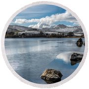 Iced Over Round Beach Towel