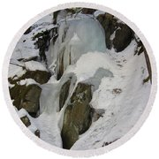 Iced Rocks Round Beach Towel