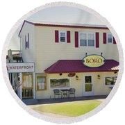Icehouse Waterfront Restaurant 1 Round Beach Towel