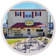 Icehouse Waterfront Restaurant 2 Round Beach Towel