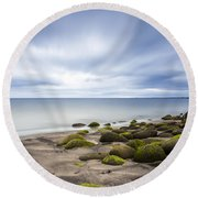 Iceland Tranquility 1 Round Beach Towel