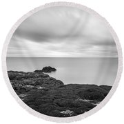 Iceland Tranquility 01 Round Beach Towel