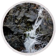 Icicles 2 Round Beach Towel