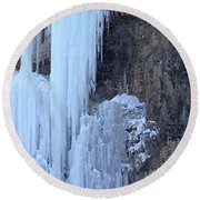 Icicles Round Beach Towel