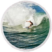 Icing The Cake Round Beach Towel by Laura Fasulo