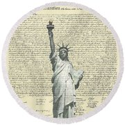 Icon Of Freedom Round Beach Towel