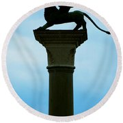 Iconic Griffin Round Beach Towel