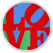 Iconic Love Round Beach Towel
