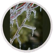 Icy Branch-7506 Round Beach Towel