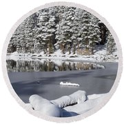 Icy Cold Round Beach Towel