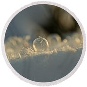 Icy Marbel Round Beach Towel