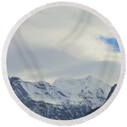 Icy View Round Beach Towel