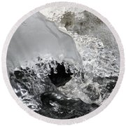 Icy Water Round Beach Towel