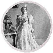 Ida Saxton Mckinley (1847-1907) Round Beach Towel
