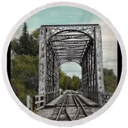 Idaho Falls Gateway Round Beach Towel