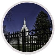 Idaho Falls Temple Series 4 Round Beach Towel