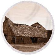 Idaho Falls - Vintage Barn Round Beach Towel