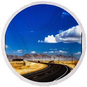 Idaho Road Titl Shift Round Beach Towel